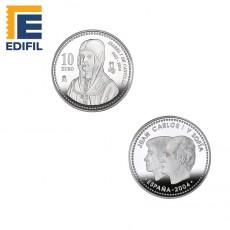 V Centenario de Isabel la Católica. Moneda de plata 10€