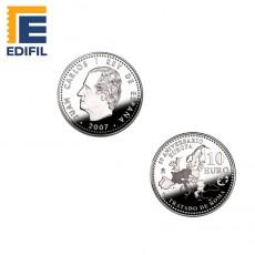 50 Aniversario del Tratado de Roma. Moneda de plata 8 reales