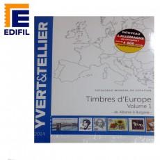 Catálogo Yvert Timbres de Europa Volumen 1 de Albania a Bulgaria Ed. 2014
