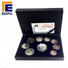 EuroSet Proof 2002. Estuche polipiel serie completa + moneda de 12 euros en plata