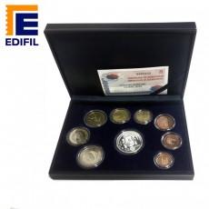 EuroSet Proof 2003. Estuche polipiel serie completa + moneda de 12 euros en plata