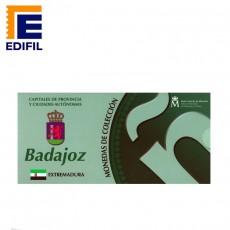 Capitales de provincia Serie 2ª. Badajoz 5 euros plata