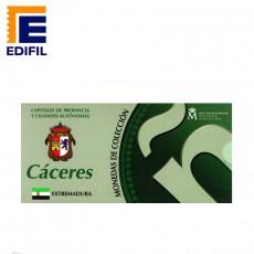 Capitales de provincia Serie 3ª. Cáceres 5€ plata