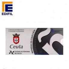 Capitales provincia Serie 1ª Ceuta 5 euros plata