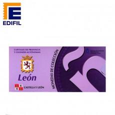 Capitales de provincia Serie 3ª. León Moneda 5€ plata