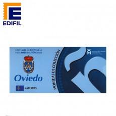 Capitales de provincia Serie 2ª. Oviedo 5 euros plata