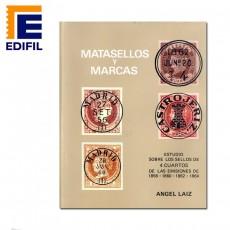 Matasellos y marcas sobre 4 c. 1856/1864