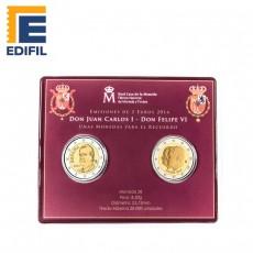 Cartera 2 € Juan Carlos I y  2 € Felipe VI