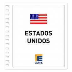 Estados Unidos Suplemento Carnets 2014 ilustrado. Color