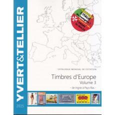 Yvert et Tellier EUROPA Volumen III Ingrie-Portugal. Ed 2015