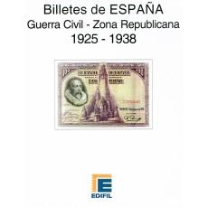 Álbum Billetes de España Guerra Civil (Zona Republicana) (1925-1938)