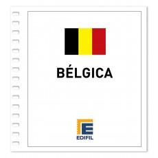 Bélgica 2011/2015 Juego hojas ilustrado color
