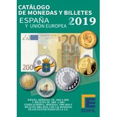 MONEDAS Y BILLETES DE ESPAÑA Y UNIÓN EUROPEA. Ed 2019