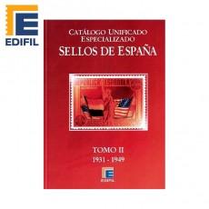 Catálogo Unificado Especializado de Sellos de España Serie Burdeos Tomo II