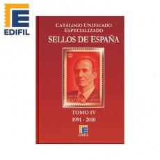 Catálogo Unificado Especializado de Sellos de España Serie Burdeos Tomo IV