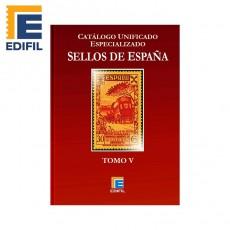 Catálogo Unificado Especializado de Sellos de España Serie Burdeos Tomo V