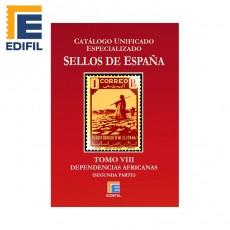 Catálogo Unificado Especializado de Sellos de España Serie Burdeos Tomo VIII
