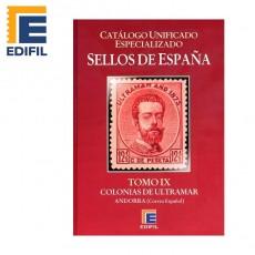 Catálogo Unificado Especializado de Sellos de España Serie Burdeos Tomo IX