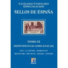 Catálogo Unificado Especializado de Sellos de España Serie Azul Tomo IX