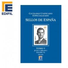 Catálogo Unificado Especializado de Sellos de España Serie Azul Tomo V.  Juan Carlos I - Felipe VI