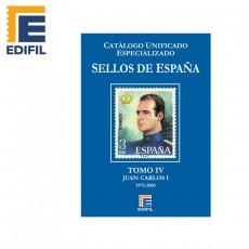 Catálogo Unificado Especializado de Sellos de España Serie Azul Tomo IV. Juan Carlos I (1975-2000)
