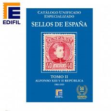Catálogo Unificado Especializado de Sellos de España Serie Azul Tomo II