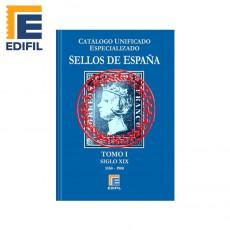 Catálogo Unificado Especializado de Sellos de España Serie Azul  Tomo I