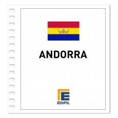 Andorra EDIFIL Correo Francés 2011/2015 Juego hojas ilustrado. Color