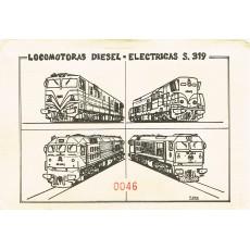 Sobre temático con 10 postales LOCOMOTORAS DIESEL-ELECTRICAS