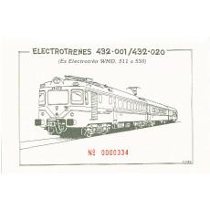 Sobre temático con 6 postales ELECTROTRENES