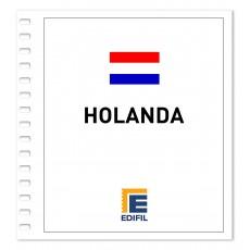 Holanda Suplemento 2012 carnés ilustrado. Color