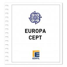 Europa C.E.P.T. Suplemento 2019 ilustrado sellos. Color