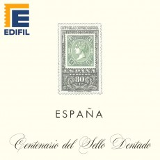 Hojas EDIFIL España Centenario Sello dentado (1965-1975 )