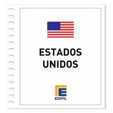 Estados Unidos 1991/1995. Juego hojas ilustrado