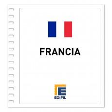 Francia 1986/1990. Juego hojas ilustrado. Color