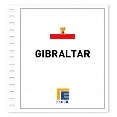 Gibraltar 1970/1980. Juego hojas ilustrado