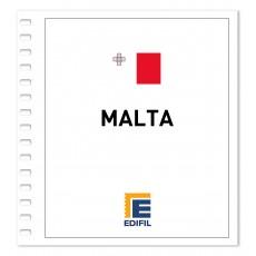 Malta 1981/1990. Juego hojas ilustrado