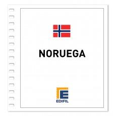 Noruega 1981/1990. Juego hojas ilustrado