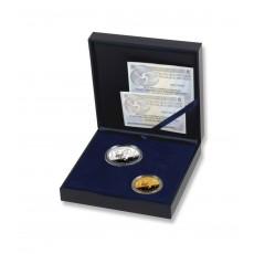 50 Aniversario del Tratado de Roma. Serie completa oro/plata.