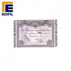 Álbum Billetes no emitidos con matriz de Bilbao, 1937