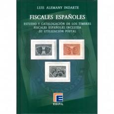 Estudio y catalogación de loas TIMBRESS FISCALES españoles incluida su ubicación postal. Luis Alemany. Edición Lujo