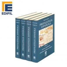 PREFILATELIA ESPAÑOLA-Marcas postales de España y sus dominios de Indias (4 vol). Manuel Tizón
