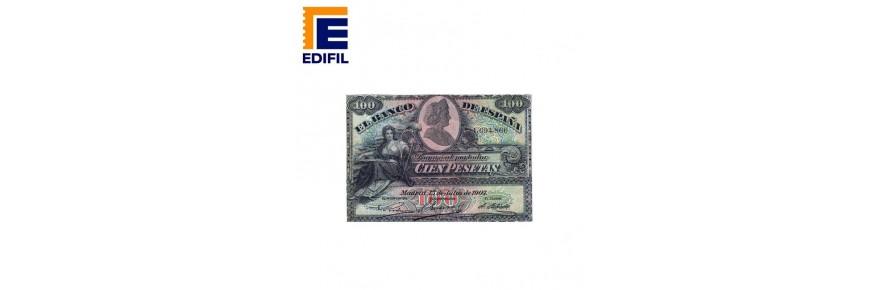 Álbum de billetes de España