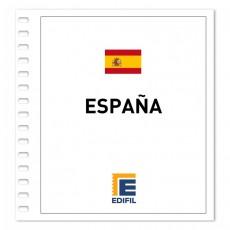Juego de Hojas EDIFIL España: Barcelona, Valencia, etc. Ilustrado. Color