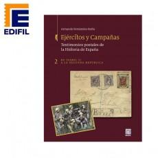 Tapas encuadernación. Ejércitos y Campañas. Testimonios postales de la Historia de España. Tomo II
