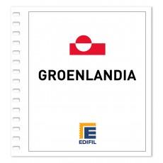 Groenlandia 2011/2015 Juego de Hojas ilustrado. Color