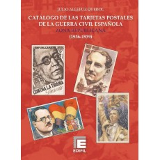 Tapas de encuadernación Catálogo de las Tarjetas Postales de la Guerra Civil Española. Zona Republicana (1936-1939)