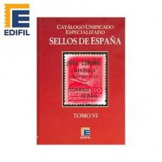 Catálogo Unificado Especializado de Sellos de España Serie Burdeos Tomo VI