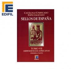 Catálogo Unificado Especializado de Sellos de España Serie Burdeos Tomo VII