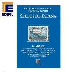 Catálogo Unificado Especializado de Sellos de España Serie Azul Tomo VII